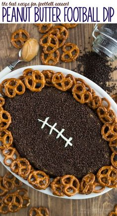 Peanut Butter Football Dip - this easy recipe is perfect for any football party!: