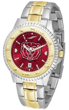 Missouri State University Bears Competitor AnoChrome Two Tone Watch by SunTime. $100.88. The ultimate Missouri State University Bears fan's statement, our Competitor Two-Tone timepiece offers men a classic, business-appropriate look. Features a 23kt gold-plated bezel, stainless steel case and date function. Secures to your wrist with a two-tone solid stainless steel band complete with safety clasp.¶¶The AnoChrome dial option increases the visual impact of any...