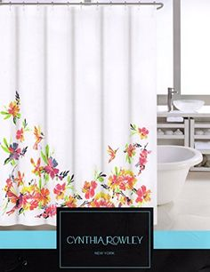Beau CARO Home Fabric Shower Curtain   Teal, White, And Silver Stripe,  Http://www.amazon.com/dp/B00T55EL2Y/refu003dcm_sw_r_pi_awdm_4tiFvu2026