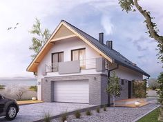 We know how tough it can be to design your perfect home. Home Design Plans, Home Interior Design, Archi Design, Fire Pit Patio, Garage Apartments, Modern Spaces, Design Case, House Front, Home Fashion