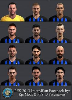 e4296628110 Happy Eid ------ PES 2013 Inter Milan Facepack 2018/19 By Rgr Mods Notes:  Faces Model and Texture by PES 2013 Facemakers Modific.