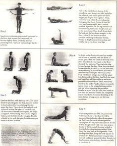 Tibetan 5 Rites - from Qi Gong class - 1994
