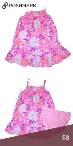 Okie Dokie dress Okie Dokie floral dress with diaper cover. Moderately worn with love ❤️. Normal wash wear. Okie Dokie Dresses Casual