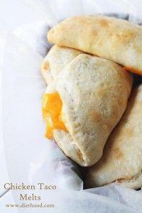 Chicken Taco Melts #PillsburyBiscuits | Diethood