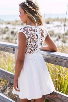 Pretty As A Picture White Lace Dress