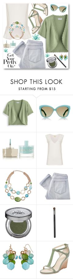 """Get Your Pretty On for Spring"" by brendariley-1 ❤ liked on Polyvore featuring Blair, Linda Farrow Luxe, Smith & Cult, Linea Weekend, Mixit, Shine, Urban Decay and Seychelles"