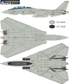 Here is the Grumman F-14 Tomcat High Visibility (Late) Color Profile and Paint Guide.