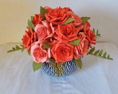 3d origami flower vase centerpice wedding decor home decor paper rose centerpiece flower arrangement 3d origami vase mightylinksfo