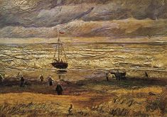 Vincent van Gogh — View of the Sea at Scheveningen, 1882, Vincent van...