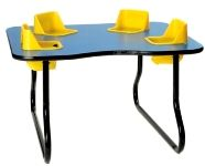 Super Sale!! 4 Seat Space Saver Toddler Table, Lowest Price Guaranteed!