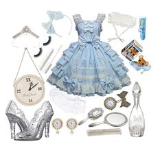 """cinderella lolita"" by vitorialn ❤ liked on Polyvore featuring Waterford, Dolce&Gabbana, Monsoon, Disney and tarte"