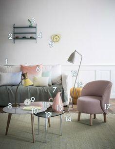 style vintage - variations sur un salon - elle.fr