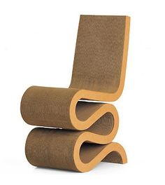 Wiggle Chair, by Frank Gehry - but this is a knock-off.  I have an original in my office. (It was at home, but my cats thought it was an awesome scratching post -- NOT!!!)