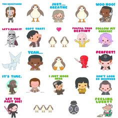 """4,143 Likes, 47 Comments - Truck Torrence ✨ 100% Soft (@100soft) on Instagram: """"Here's my brand new #TheLastJedi iOS sticker pack I did with @starwars! Just search Last Jedi in…"""""""