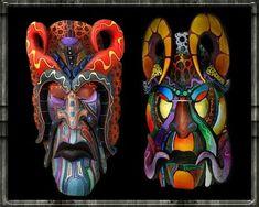 Boruca Masks, Costa Rica