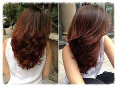 my work: warm hair colors for brunettes Hair Color And Cut, Brown Hair Colors, Medium Hair Styles, Long Hair Styles, Layered Hair, Fall Hair, Gorgeous Hair, Hair Looks, Pretty Hairstyles
