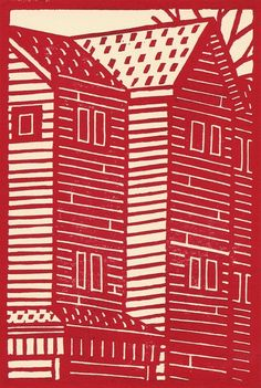 Red House Original Limited Edition Linocut Print by catorart, $16.00