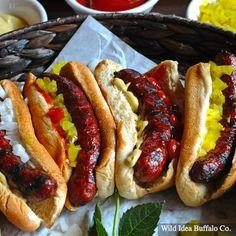 1 lb. Uncured Smoked Buffalo Hot Dogs