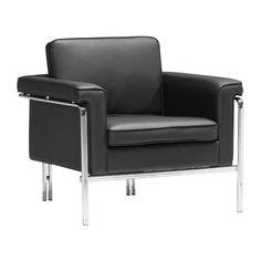 Zuo 900160 Singular Arm Chair Black