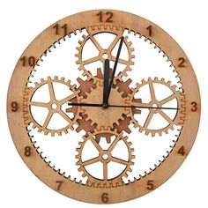 Giftgarden® Orologio da Muro in Legno Cerchio Ingranaggio... https://www.amazon.it/dp/B01GFGZJWG/ref=cm_sw_r_pi_dp_1dGHxb2N2PPJV