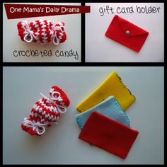 DIY gift card holder. Cute in red for Valentine's Day treats! | One Mama's Daily Drama