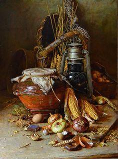 Натюрморт с кукурузой, автор Николаев Юрий. Артклуб Gallerix