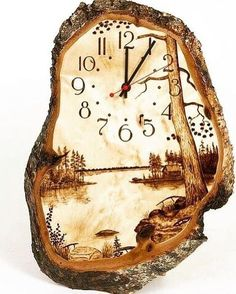 ,What's wood burning ? The pine burnt by treatment process by transferring a photo on wood is named wooden decoration. In wood burning , determining th. Wood Burning Crafts, Wood Burning Patterns, Wood Burning Art, Wooden Art, Wooden Crafts, Diy Crafts, Wood Clocks, Wood Creations, Pyrography Patterns