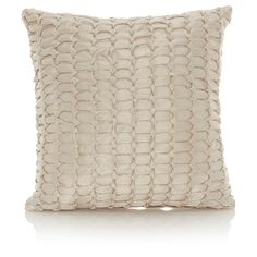 George Home Natural Smocked Square Cushion | Bed Cushions & Throws | ASDA direct
