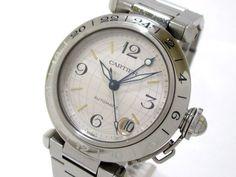 Authentic Cartier Pasha C Meridian GMT W31029M7 Women's Wristwatch 822030CD #Cartier