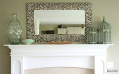 20 Gorgeous DIY Mirror Ideas for Your Home-Have to do this one for and with my daughter