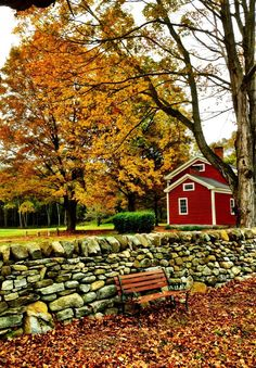 New England. The stacked stone walls