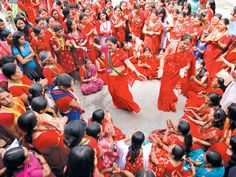 Woman dancing in festival (ekantipur)
