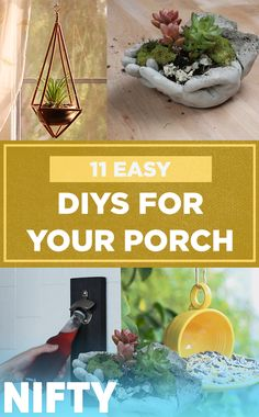 11 Easy DIYs For Your Porch ✨   #porch #home #homedecor #gardening #diy #crafty #Nifty