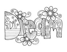 KPM Doodles coloring pages! Ive got more on the way. Print this out on card stock and color away! Coloring is not just for kids, get some colored pencils and markers and go to town. Invite your friends over for a coloring party.   The art form used on the page was inspired from Zentangle®. Zentangle, a way of creating images from repetitive patterns, was created by Rick Roberts and Maria Thomas and is copyrighted. Zentangle® is a registered trademark of Zentangle, Inc. Learn more at…