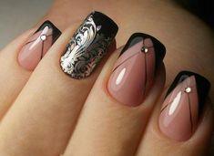 Faded french nails short - Faded french nails short - Faded french na Easy Nails, Simple Nails, Cute Nails, Pretty Nails, Easter Nail Designs, Nail Art Designs, French Nails, Crown Nails, French Manicure Designs