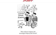 Matt cartoon; March 2010 - Sarkozy affair rumour