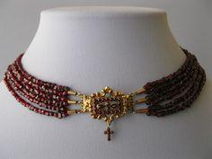 Antique Victorian 14k Gold Bohemian Garnet Cross Crucifix Necklace | eBay