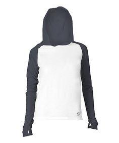 Look what I found on #zulily! White & Black No Sweat Hoodie #zulilyfinds