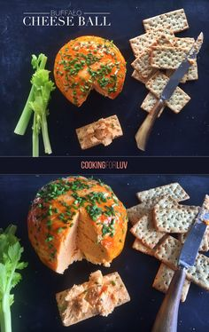 Just in time for Super Bowl XLIX this Sunday, my recipe for a giant crowd pleasing Buffalo Cheese Ball!  Check it out at Cooking for Luv --> http://cookingforluv.com/super-bowl-xlix-buffalo-cheese-ball/