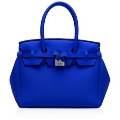 Save My Bag Icon Lycra Satchel ($120) ❤ liked on Polyvore featuring bags, handbags, blue royal, tote handbags, satchel purses, hand bags, blue handbags and purse satchel