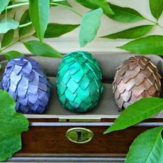 Celebrate Easter and the new season of Game of Thrones with these easy to make dragon eggs!