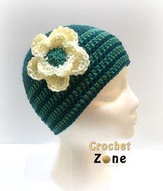 Basic Beanie Hat by crochetzone.com #crochet #freepattern #crochetzone