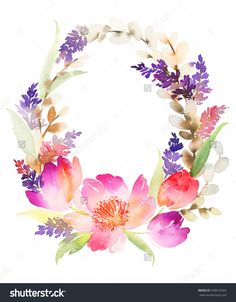 stock-photo-watercolor-card-with-flowers-handmade-338074205.jpg (1250×1600)