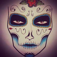 Immagine di http://i6.cdnds.net/13/44/450x450/judith-soltesz-halloween-makeup-sugarskull-design-mac-facechart-1.jpg.