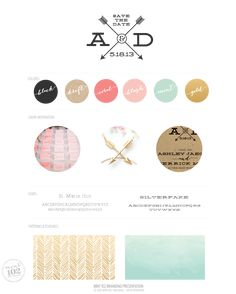 For a wedding, but very much a brand identity, kind of love it. WEDDING BRANDING AD-WeddingLogo by MINT 102