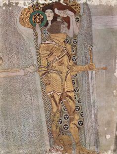 Gustav Klimt, Beethoven Frieze, Detail: Knight, 1902, Vienna, Secession (Image © Wikimedia Commons)