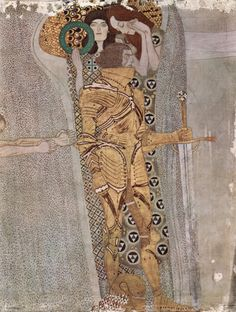 Gustav Klimt, Beethoven Frieze, Detail: Knight, 1902, Vienna, Secession (Image © Wikimedia Commons)