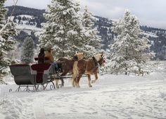 It's lovely weather for a sleigh ride together with you. Live a life that has some old-fashioned inspiration. This is one of our 5 cowboy-inspired New Year's resolutions for 2015! theranchatrockcreek.com/blog/resolutions/