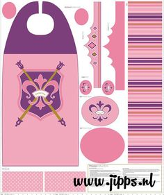 Prinsessencape - Princess cape - Riley Blake Designs - by RBD Designer verkrijgbaar via http://www.jipps.nl/a-41626127/stofpanels/princess-cape-panel/