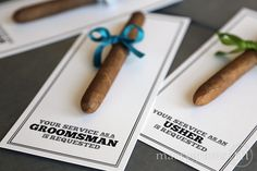 Groomsman Card, Cigar Card Will You Be My Groomsman, Service Is Requested as…